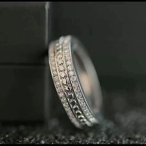 925 Silver White Sapphire Band Ring